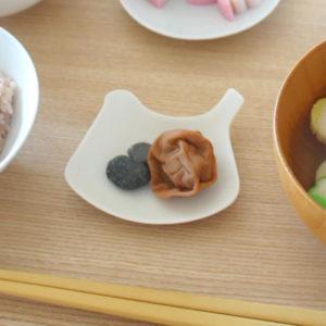手作りお食い初めメニュー:梅干しと歯固め石