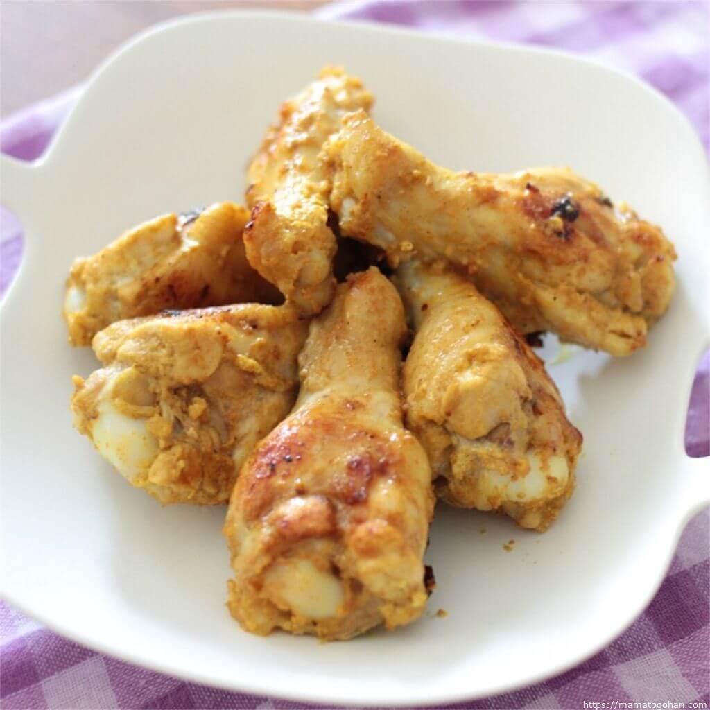 【幼児食】フライパンで簡単!子どもも食べやすいマイルドタンドリーチキンレシピ