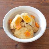 【離乳食・幼児食】ほんのり甘いしみしみ油揚げの卵巾着煮レシピ