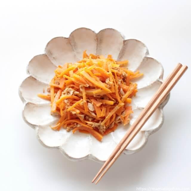 【離乳食・幼児食】卵不使用!胡麻が香るにんじんしりしりレシピ
