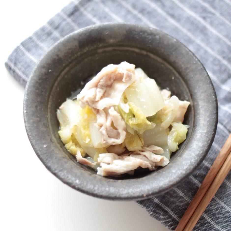 【幼児食】材料3つで簡単!白菜と豚肉の洋風うま煮レシピ