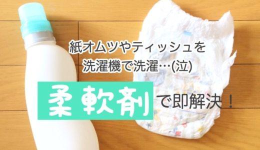 洗濯機でオムツやティッシュを洗濯した時の対処法。柔軟剤1つで簡単解決!