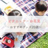 【おしゃピク】ピクニック・お花見をおしゃれに楽しもう!おすすめグッズ20選