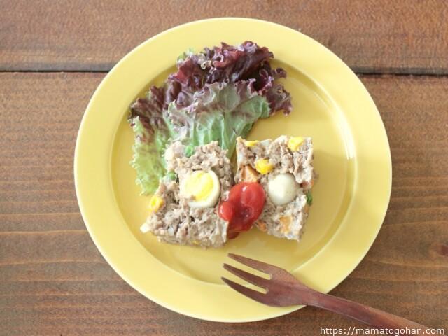 離乳食・幼児食】レンジで6分!ミックスベジタブルのミートローフレシピ