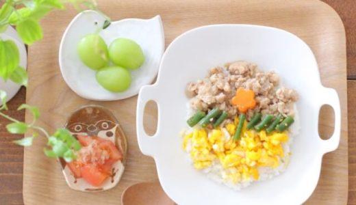 【離乳食・幼児食】レンジだけで鶏そぼろ・三色丼レシピ