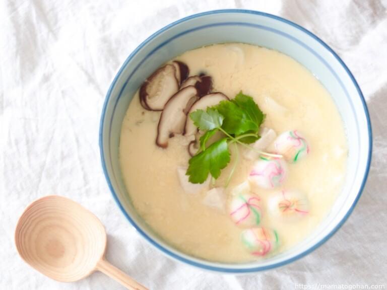 【離乳食・幼児食】レンジで簡単うどん入り茶碗蒸し!小田巻蒸しレシピ