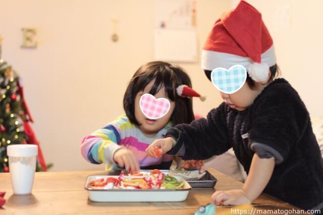 【2019年】クリスマスパーティーは親子でスコップケーキを作ったよ